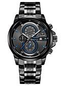 baratos Couro-CADISEN Homens Relógio de Pulso Chinês Calendário / Impermeável / Cronômetro Aço Inoxidável Banda Fashion Preta / Branco / Noctilucente / Sony SR920SW / Dois anos