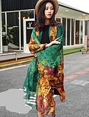 זול צעיפים אופנתיים-מלבן - צבעים מרובים סגנון וינטג' סגנון קלאסי קלסי ונצחי בגדי ריקוד נשים