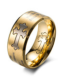 cheap Men's Shirts-Men's Band Ring - Fashion 7 / 8 / 9 Gold / Black For Work / Office & Career