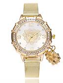 זול שעוני יוקרה-בגדי ריקוד נשים שעון יד Chinese חיקוי יהלום סגסוגת להקה Heart Shape / יום יומי / אופנתי זהב