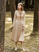 זול שמלות נשים-לב (סוויטהארט) מותניים גבוהים מידי אחיד - שמלה גזרת A נדן וינטאג' פעיל בגדי ריקוד נשים