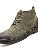 cheap Men's Downs & Parkas-Men's Combat Boots Leather / Cowhide Fall / Winter Comfort Boots Mid-Calf Boots Gray / Brown / Green