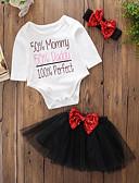 tanie Zestawy ubrań dla niemowląt-Dziecko Dla dziewczynek Prosty Urodziny / Codzienny / Weekend Solidne kolory / Nadruk Długi rękaw Regularny Regularny Bawełna / Akryl Komplet odzieży Czarny / Brzdąc