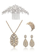 preiswerte Bikinis und Bademode 2017-Damen Schmuck-Set - Künstliche Perle, Diamantimitate Blume Europäisch, Modisch Einschließen Haarkämme Braut-Schmuck-Sets Weiß Für Hochzeit Party