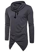 זול סוודרים וקרדיגנים לגברים-אחיד עם קפוצ'ון סגנון רחוב ספורט כותנה, טישרט - בגדי ריקוד גברים