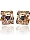 cheap Men's Accessories-Geometric Silver / Golden Cufflinks Acrylic / Imitation Diamond / Alloy Formal / Classic / Fashion Men's Costume Jewelry For Wedding /