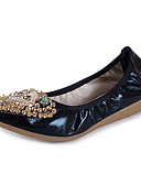 hesapli Dans Aksesuarları-Kadın's Ayakkabı Kauçuk Bahar / Sonbahar Rahat Düz Ayakkabılar Düz Taban Yuvarlak Uçlu Dış mekan için Altın / Siyah / Gümüş