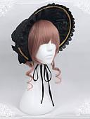 זול טרנינגים וקפוצ'ונים לגברים-Lolita Bonnet לוליטה מתוקה לבוש ראש שחור לוליטה אביזרים לבוש ראש פולי / כותנה