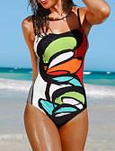tanie Bikini i odzież kąpielowa 2017-Damskie Pasek Jednoczęściowy - Nadruk, Geometric Shape Majtki