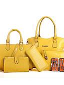 hesapli Kadın Gecelikleri-Kadın's Çantalar PU Çanta Setleri 6 Adet Çanta Seti Fermuar için Dış mekan Bahar / Sonbahar Sarı / Fuşya / Şarap
