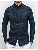 זול חולצות לגברים-אחיד צווארון עומד(סיני) חולצה - בגדי ריקוד גברים