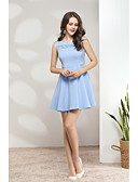 זול שמלות נשים-עד הברך תחרה, אחיד - שמלה נדן סגנון רחוב ליציאה בגדי ריקוד נשים
