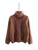 abordables Jerséis de Mujer-Mujer Manga Larga Pullover - Un Color / Invierno