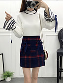 cheap Women's Two Piece Sets-Women's Sweater Print Skirt Turtleneck