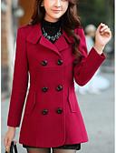 preiswerte Damenmäntel und Trenchcoats-Damen Solide Mantel Wolle Moderner Stil