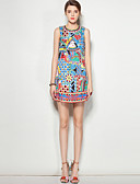 זול שמלות נשים-דפוס שמלה גזרת A בוהו בגדי ריקוד נשים