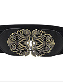 cheap Women's Belt-Women's Active Basic Leather Alloy Wide Belt