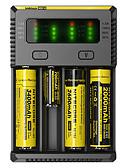 baratos Vestidos de Mulher-Nitecore NEW-I4 Carregador de Bateria Lanternas Acessórios Portátil Profissional Alta qualidade Plástico para