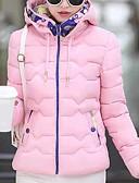 olcso Női hosszú kabátok és parkák-Női Napi / Alkalmi Egyszínű Kosaras, Poliészter Hosszú ujj Fekete / Arcpír rózsaszín / Sárga XL / XXL / XXXL
