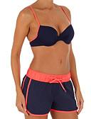 זול 2017ביקיני ובגדי ים-מכנסי גלישה קולור בלוק, דפוס - ביקיני בגדי ריקוד נשים