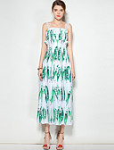 cheap Women's Dresses-Mary Yan & Yu Women's Boho Swing Dress - Plants Tropical Leaf, Print Strap