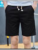 זול מכנסיים ושורטים לגברים-מכנסיים צ'ינו כותנה מיקרו-אלסטי גיזרה בינונית (אמצע) אחיד ספורט ושטח קיץ/אביב בגדי ריקוד גברים