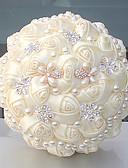 abordables robe mariage civil-Fleurs de mariage Bouquets Mariage Perle Cristal/Strass Satin 25cm