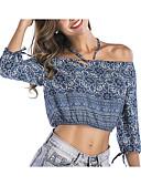 cheap Women's Swimwear & Bikinis-Women's Cotton Blouse - Floral Halter