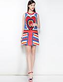 preiswerte Damen Kleider-Damen Boho A-Linie Kleid - Druck, Einfarbig