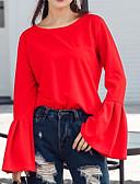abordables Camisas y Camisetas para Mujer-Mujer Chic de Calle Camisa Un Color