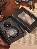 זול קווארץ-לזוג שעוני שלד / שעון כיס Chinese חריתה חלולה / שעונים יום יומיים סגסוגת להקה פאר / יום יומי / גולגולת שחור