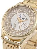 זול קווארץ-בגדי ריקוד נשים שעוני ספורט Chinese שעונים יום יומיים / מגניב סגסוגת להקה פאר / יום יומי / אופנתי זהב