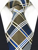 זול עניבות ועניבות פרפר לגברים-עניבת צווארון - קולור בלוק / משובץ דמקה / סרוג מסיבה / עבודה בגדי ריקוד גברים