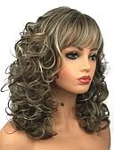preiswerte Hübsche sexy Damenkleidung-Synthetische Perücken Locken Synthetische Haare Braun Perücke Damen Lang Kappenlos Blond Beigeblond StrongBeauty