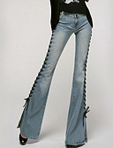 cheap Women's Pants-Women's Cotton Jeans Pants - Solid Colored High Rise / Fall
