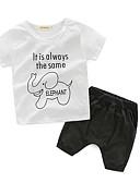 tanie Zestawy ubrań dla chłopców-Brzdąc Dla chłopców Na co dzień Rysunek Krótki rękaw Bawełna Komplet odzieży