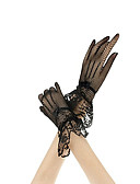 cheap Gloves-Women's Party Lace Wrist Length Fingertips Gloves