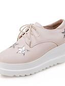 ieftine Eșarfe la Modă-Pentru femei Pantofi PU Primăvară / Toamnă Confortabili Oxfords Toc Drept Vârf rotund Alb / Negru / Bej