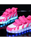 cheap Women's Sexy Clothing-Girls' Shoes PU Spring Comfort Sneakers for Pink / White / Black / White / Black / Red