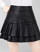 cheap Women's Skirts-Women's Cute A Line Skirts - Solid Colored