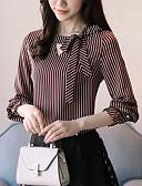 ieftine Bluză-Pentru femei Tricou Dungi Funde