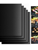 baratos Jeans Para Meninos-2 pcs grosso ptfe churrasqueira tapete antiaderente reutilizável para churrasco grade esteiras folha da folha da grade para churrasco forro