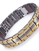 cheap Sport Watches-Men's Chain Bracelet / Hologram Bracelet / Magnetic Bracelet - Bracelet Gold / Black / Silver For Causal / Daily