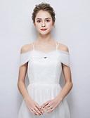 זול הינומות חתונה-ללא שרוולים טול חתונה / מסיבה\אירוע ערב כיסויי גוף לנשים עם כפתורים שאלים
