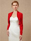 hesapli Gelin Şalları-Uzun Kollu Splandeks Düğün / Parti / Gece Kadın Eşarpları İle Kabanlar / Ceketler