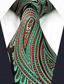 olcso Férfi nyakkendők és csokornyakkendők-Férfi Színes / Paisley / Jacquardszövet Munkahelyi / Alap - Nyakkendő