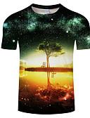 billige T-skjorter og singleter til herrer-Rund hals Store størrelser T-skjorte Herre - Grafisk, Trykt mønster / Kortermet
