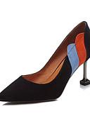 זול טישרטים לגופיות לגברים-בגדי ריקוד נשים נעליים עור אביב / סתיו נוחות עקבים עקב סטילטו שחור / שקד