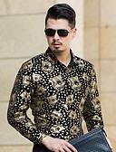 זול תחתוני גברים אקזוטיים-דפוס כותנה, חולצה - בגדי ריקוד גברים / שרוול ארוך