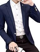 זול גברים-ג'קטים ומעילים-אחיד מידות גדולות בלייזר-בגדי ריקוד גברים / שרוול ארוך / עבודה